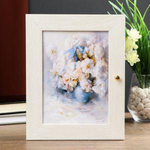 """Ключница """"Белоснежные цветы"""" Мини Молочный дуб 18х23 см 4127434"""