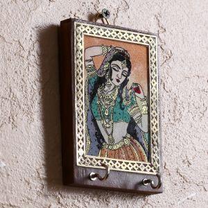 "Ключница ""Метия"" дерево,стекло,металл,песок,текстиль 3х11,5х13 см   4206014"