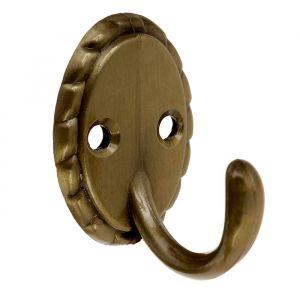 Крючок мебельный KM1006AB, однорожковый, цвет бронза 2603143