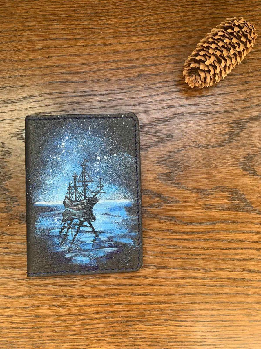 Обложка на паспорт и автодокументы Корабль
