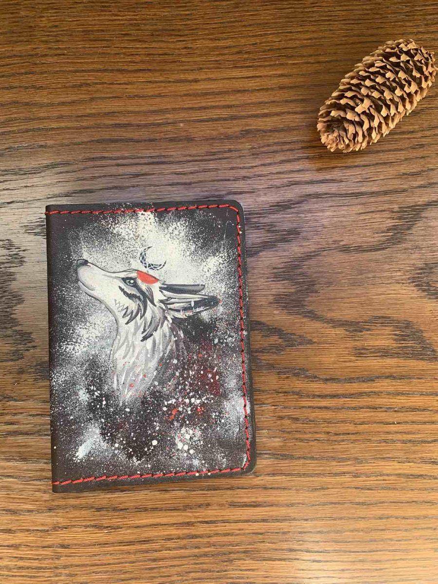 Обложка на паспорт и автодокументы Волк