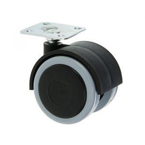 Колесо мебельное ОК 1 м/х (ОКП50М/Х), d=50 мм, черное 3543707