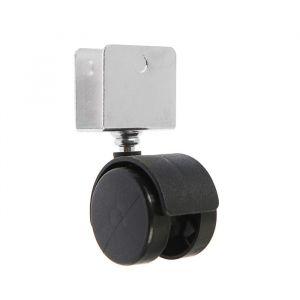 Колесо мебельное, d=40 мм, U-образная пята, черный   4724584