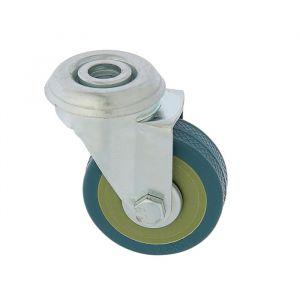 Колесо мебельное, d=50 мм, крепление под болт, без тормоза, серое    3837332