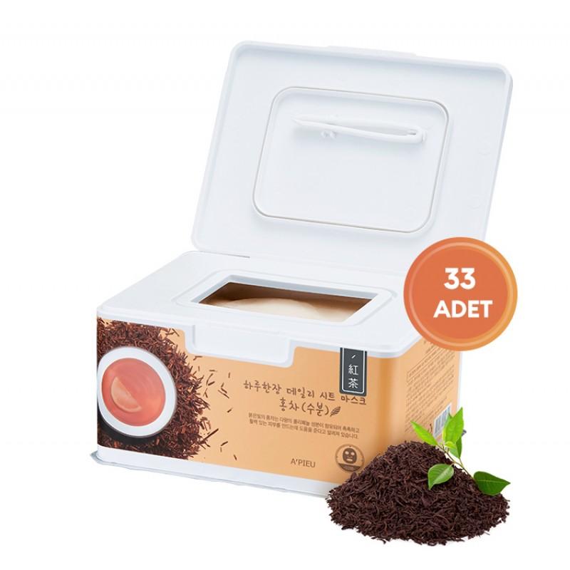 Набор тканевых масок с черным чаем A'Pieu Black Tea Hydrating Daily Sheet Mask
