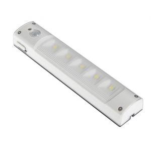 Светильник светодиодный с датчиком движения, 5 LED, 2 Вт, от батареек 3*AAA, 6500К, белый   4508104