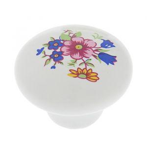 Ручка кнопка Ceramics 017, керамическая, белая 3609969