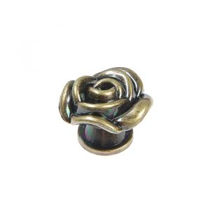 Ручка кнопка Rose 01, цвет бронза   4647191
