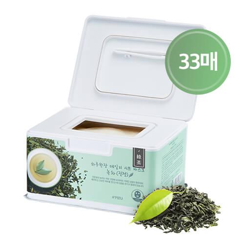 Набор успокаивающих тканевых масок с зеленым чаем A'Pieu Daily Sheet Mask Green Tea Soothing