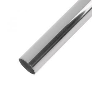 Труба, 3 м, d=25 мм, сталь 0.7 мм, цвет хром   3673706