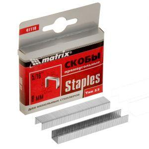 Скобы для мебельного степлера MATRIX, 8 мм, тип 53, 1000 шт.   2911903