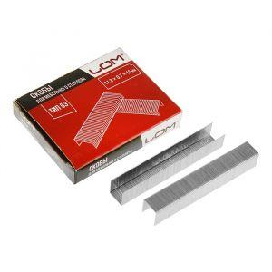 Скобы для степлера LOM, закалённые, тип 53, 11.3 х 0.7 х 12 мм, в упаковке 1000 шт. 2554402