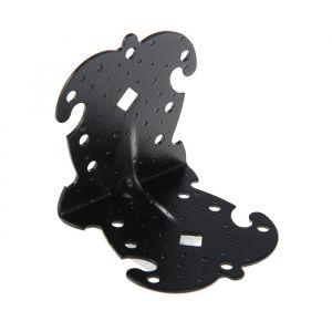 Уголок фигурный УКФ 105-105-100-У, цвет черный матовый   3648059