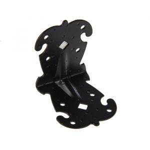 Уголок фигурный УКФ 70-70-60-У, цвет черный матовый   3648057