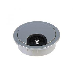 Заглушка кабель канала Z01, D=60 мм, пластиковая, цвет матовый хром   3836594