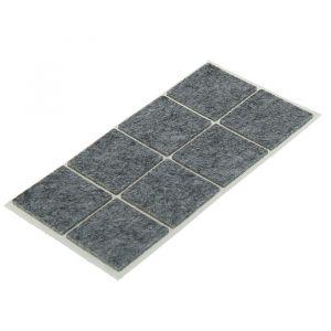 Накладка мебельная TUNDRA, 40 х 40 мм, квадратная, серая, 8 шт. 2942291