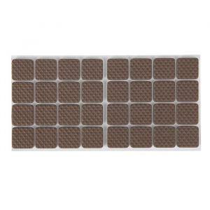 Накладка мебельная квадратная TUNDRA, размер 18 х 18 мм, 32 шт., полимерная, коричневая 3609858