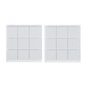 Накладка мебельная квадратная TUNDRA, размер 25 х 25 мм, 18 шт, полимерная, цвет белый 3609859