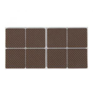 Накладка мебельная квадратная TUNDRA, размер 38 х 38 мм, 8 шт., полимерная, коричневая 3609862