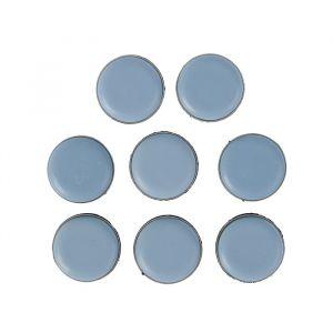 Накладка мебельная круглая TUNDRA, D=25 мм, 8 шт., полимерная, цвет серый 3609882