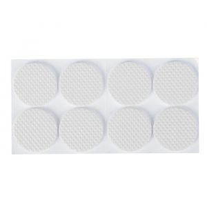 Накладка мебельная круглая TUNDRA, D=38 мм, 8 шт., полимерная, белая 3609867