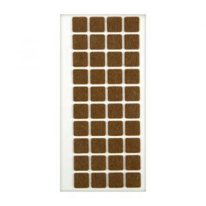 Подпятник войлочный 20х20 мм, 40 шт., коричневый 5017325