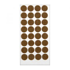 Подпятник войлочный d=24 мм, 32 шт., коричневый 5017329