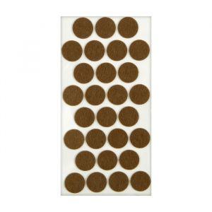 Подпятник войлочный d=28 мм, 28 шт., коричневый 5017330