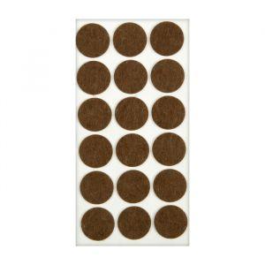 Подпятник войлочный d=35 мм, 18 шт., коричневый. 5017331