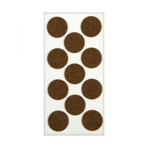Подпятник войлочный d=40 мм, 11 шт., коричневый. 5017332