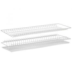 Комплект посудосушителей с поддоном 76,5х25,6 см, для шкафа 80 см, цвет белый