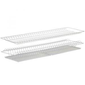 Комплект посудосушителей с поддоном 86,5х25,6 см, для шкафа 90 см, цвет белый