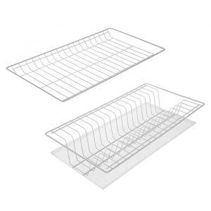 Комплект посудосушителей с поддоном для шкафа 50 см, цвет белый