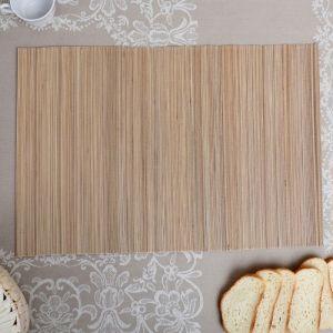 Салфетка плетёная, бежевая, 35?50 см, бамбук   4427950