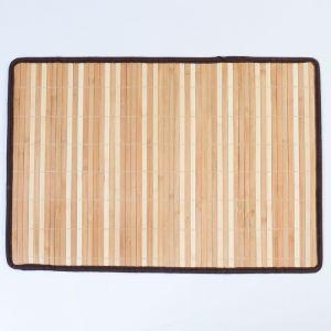 Салфетка плетёная, коричневая, 40?60 см, бамбук, ткань   4576749