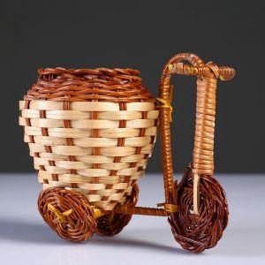 Плетеные сувениры (Велосипед) 15х9 см H 12 см.(Бамбук срезан) 4822641