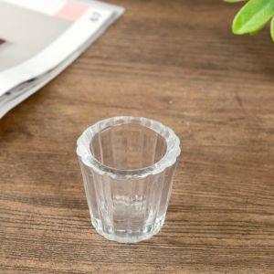 "Подсвечник стекло на 1 свечу ""Стаканчик"" прозрачный 6,4х6,8х6,8 см   3714178"