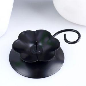 подсвечник Цветок Н черный   1596061
