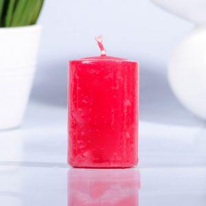 Свеча парафиновая цилиндр красная 40 Н-60 2463648