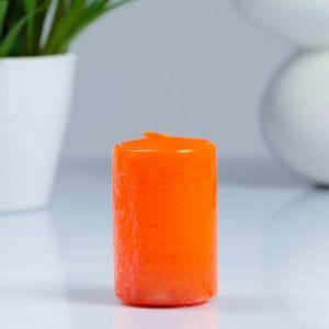 Свеча- цилиндр, парафиновая, оранжевая, 4?6 см   4205482