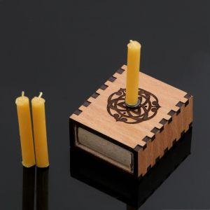"""Набор ларец желаний """"Исполнение желаний"""" со свечками, 5,2х4,5х2 см 2343115"""