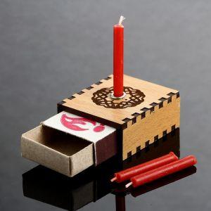"""Набор ларец желаний """"Притяжение любви"""" со свечками, 5,2х4,5х2 см 2343124"""