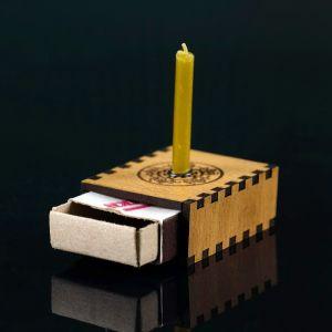 "Набор ларец желаний ""Семейное благополучие"" со свечками, 5,2х4,5х2 см 2343126"