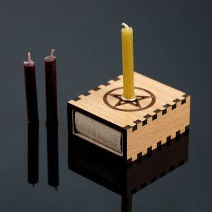 """Набор ларец желаний """"Снятие порчи и сглаза"""" со свечками, 5,2х4,5х2 см 2343118"""