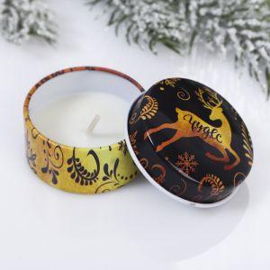 Новогодняя свеча «Чудес», в железной банке 4273787