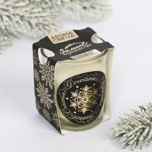 Свеча ароматическая в стекле «Здоровья, успехов», ваниль