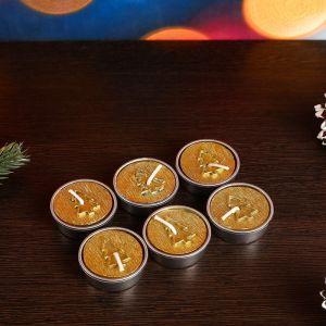 Новогодние свечи Елочки Золотые   4704274