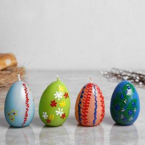 """Свеча пасхальная """"Яйцо разноцветное"""" малое, с деколью, разноцветная, микс   3258441"""