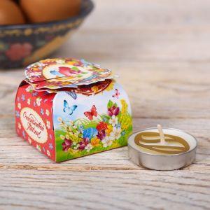 Свеча пасхальная в коробочке «Пасхальный венок»