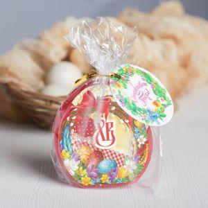Пасхальная свеча-яйцо с картинкой «Венок»